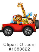 Royalty-Free (RF) Zoo Animals Clipart Illustration #1383822