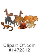 Royalty-Free (RF) Zoo Animals Clipart Illustration #1472312