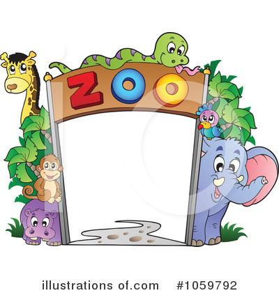 Royalty-Free (RF) Zoo Clipart Illustration by visekart - Stock Sample #1059792