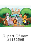 Royalty-Free (RF) Zoo Clipart Illustration #1132595