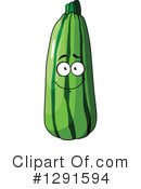 Zucchini Clipart #1291594 by Vector Tradition SM
