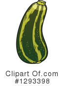 Zucchini Clipart #1293398 by Vector Tradition SM