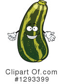 Zucchini Clipart #1293399 by Vector Tradition SM