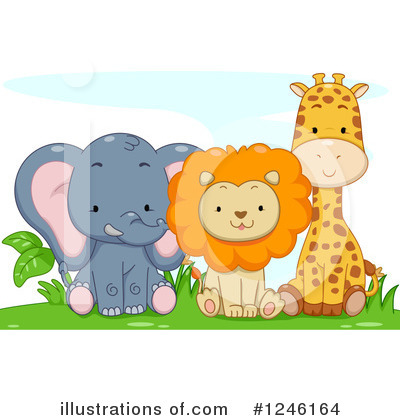 Giraffe Clipart #1246164 by BNP Design Studio