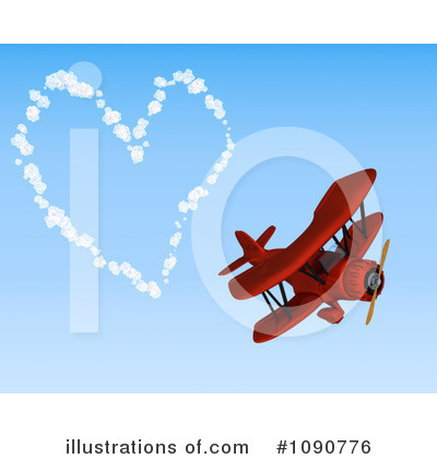 Airplane and Biplane Stamp Clipart, Bi-Plane and Jet, Outlines, AMB-1339