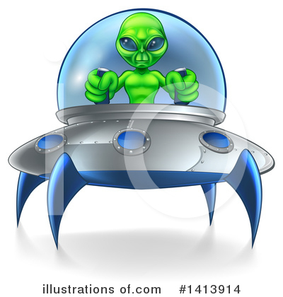 Ufo Clipart #1413914 by AtStockIllustration