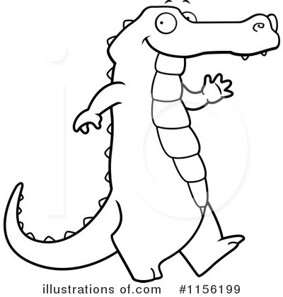 Alligator Clipart #1156199 - Illustration by Cory Thoman