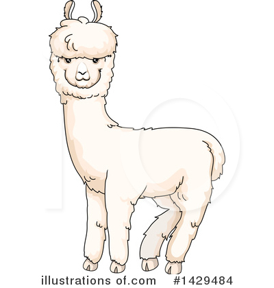 alpaca clipart 1429484 illustration by bnp design studio rh illustrationsof com alpaca clip art images alpaca head clip art
