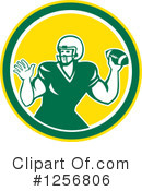American Football Clipart #1256806 by patrimonio