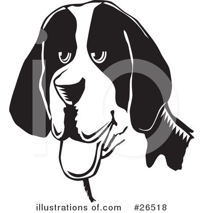 American Foxhound Clipart #26518 by David Rey