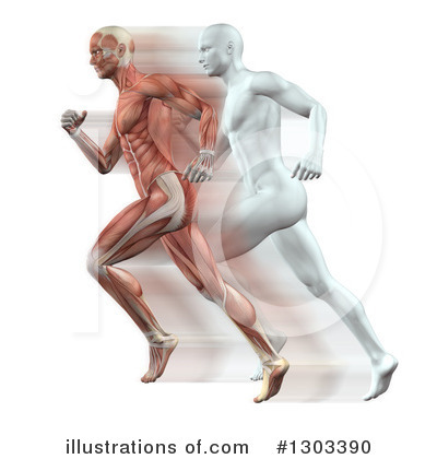 Jogging Clipart #1303390 by KJ Pargeter