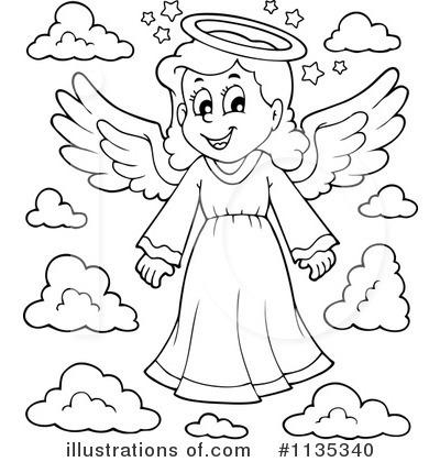angel clipart 1135340 illustration by visekart rh illustrationsof com guardian angel clipart black and white baby angel clipart black and white