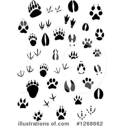animal tracks clipart 1268662 illustration by vector tradition sm rh illustrationsof com Giraffe Tracks Turtle Tracks Clip Art