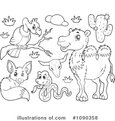 Animals Clipart 1090358 Illustration By Visekart