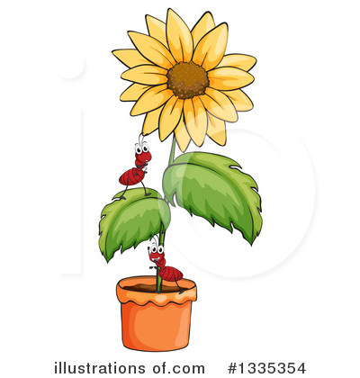Sunflower Clipart #1335354 by Graphics RF