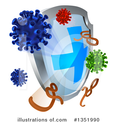 Germs Clipart #1351990 by AtStockIllustration