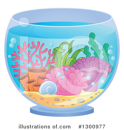Aquarium Clipart #1300977 - Illustration by visekart