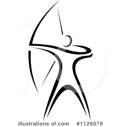 archery clipart 1126078 illustration by vector tradition sm rh illustrationsof com archery logo design archery logos for printing