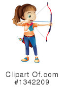 Archery Clipart #1342209 by Graphics RF