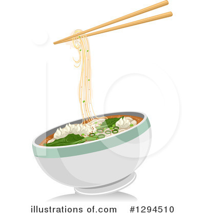 Asian Food Clipart #1294510 - Illustration by BNP Design Studio