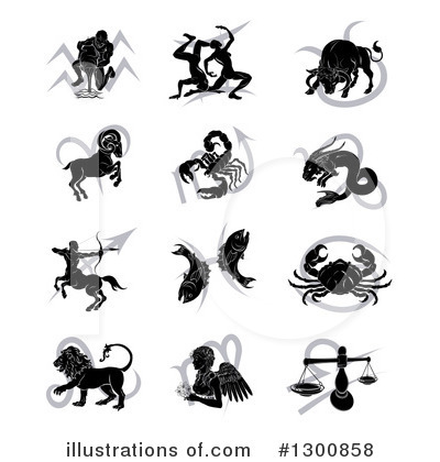 Astrology Clipart #1300858 - Illustration by AtStockIllustration