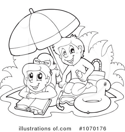 Royalty Free RF At The Beach Clipart Illustration By Visekart
