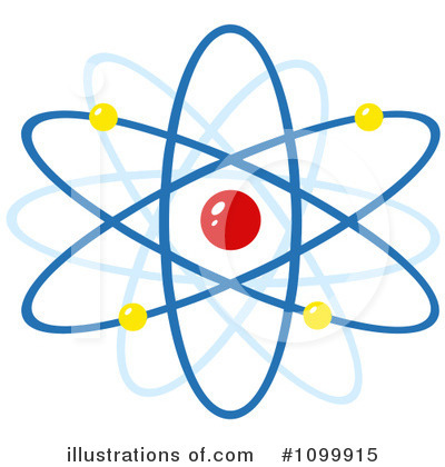 Atom Clipart #1099915 - Illustration by Hit Toon
