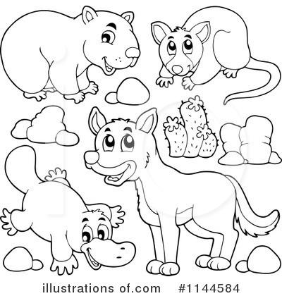 Australian Animals Clipart 1144584 Illustration By Visekart