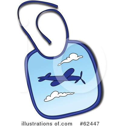 Baby Bib Clipart #62447 - Illustration by Pams Clipart