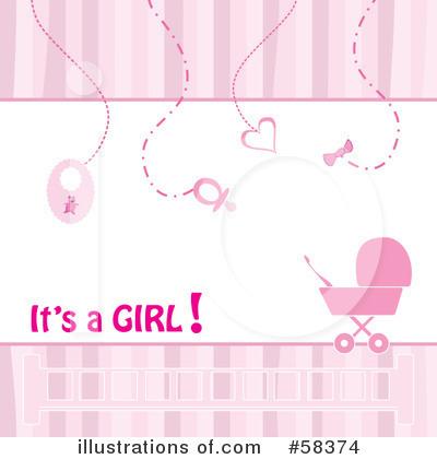 Baby Girl Clipart #58374 - Illustration by MilsiArt