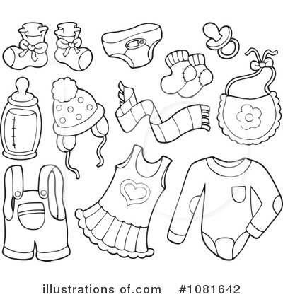 Coloring Pages Of Baby Clothes