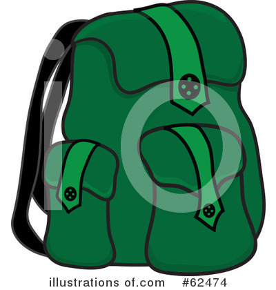 Backpack Clipart #62474 - Illustration by Pams Clipart