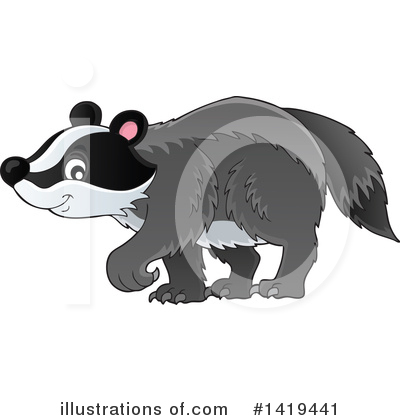 Badger Clipart #1419441 by visekart