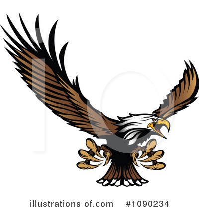Bald Eagle Clipart #1090234 by Chromaco