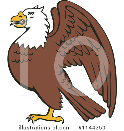 Bald Eagle Clipart #1144250 by patrimonio