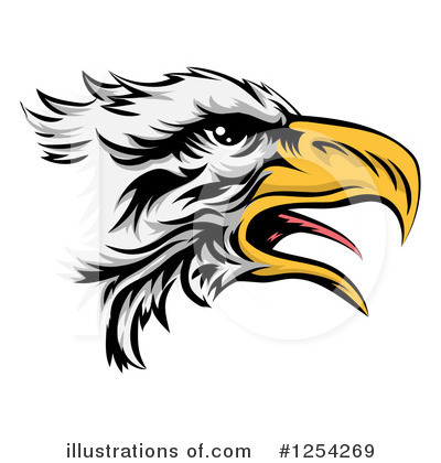 Bald Eagle Clipart #1254269 by AtStockIllustration