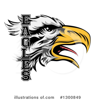 Bald Eagle Clipart #1300849 by AtStockIllustration