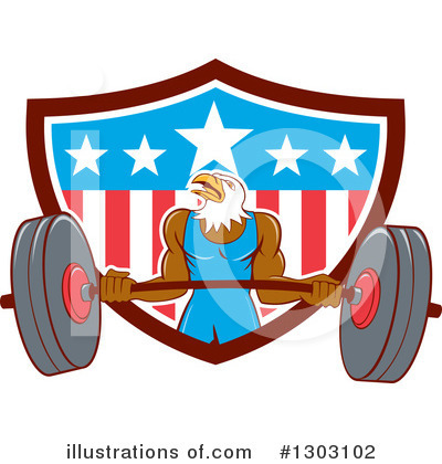Royalty-Free (RF) Bald Eagle Clipart Illustration by patrimonio - Stock Sample #1303102
