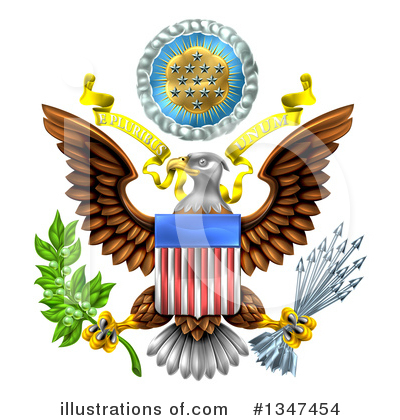 Bald Eagle Clipart #1347454 by AtStockIllustration