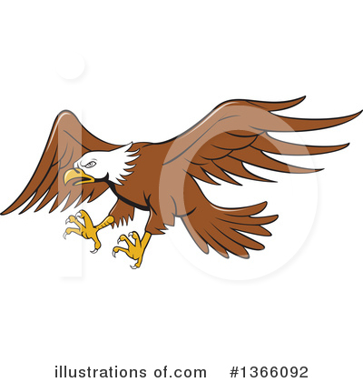 Bald Eagle Clipart #1366092 by patrimonio