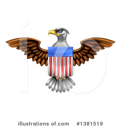 Bald Eagle Clipart #1381519 by AtStockIllustration