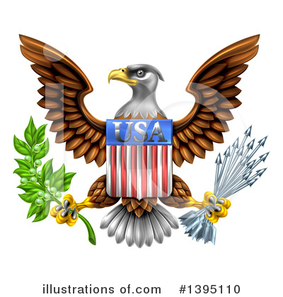 Royalty-Free (RF) Bald Eagle Clipart Illustration by AtStockIllustration - Stock Sample #1395110