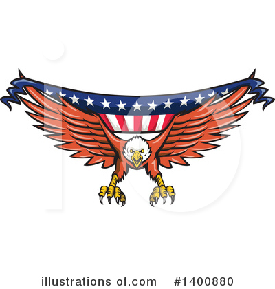 Bald Eagle Clipart #1400880 by patrimonio