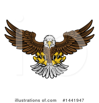 Bald Eagle Clipart #1441947 by AtStockIllustration