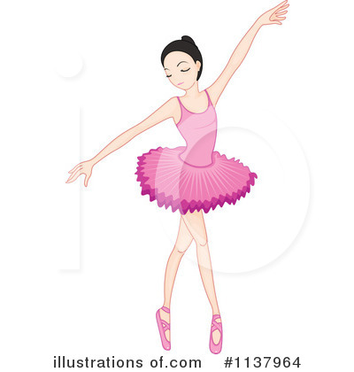 Ballerina Clipart #1137964 - Illustration by colematt