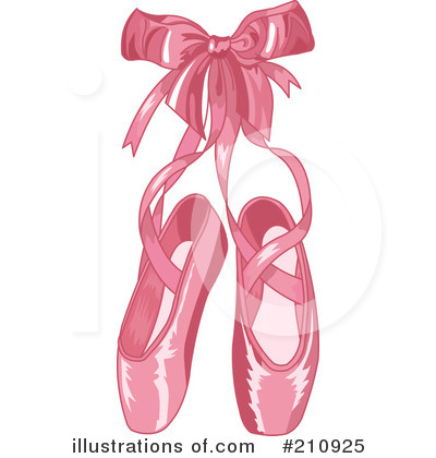 ballet slippers clipart 210925 illustration by pushkin rh illustrationsof com pink ballet shoes clipart dance shoes clipart