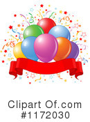 Balloons Clipart #1172030 by Pushkin