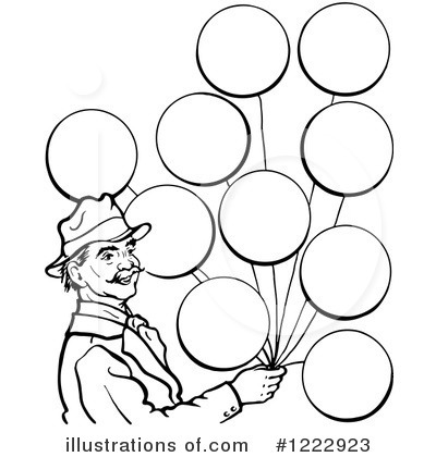 Balloons Clipart #1222923 - Illustration by Picsburg