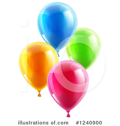Party Balloons Clipart #1240900 by AtStockIllustration