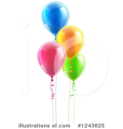 Party Balloons Clipart #1243625 by AtStockIllustration